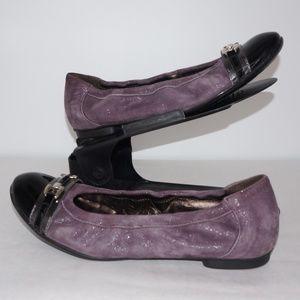 AGL Attilio Giusti Leombruni Purple Shimmer Flats